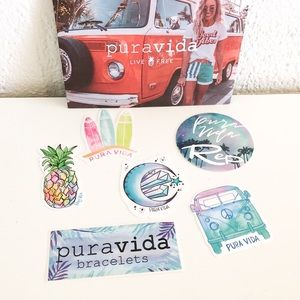 🍁 NWOT Pura Vida Sticker Pack 🍁